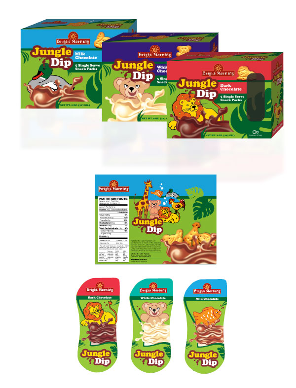 Jungle Dip illustrated packages