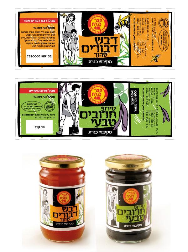 Kibbutz Kineret illustrated labels