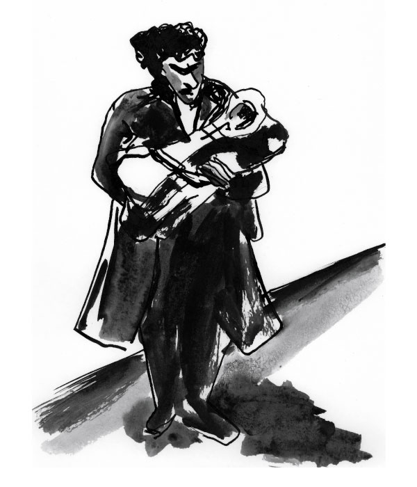 man with a baby